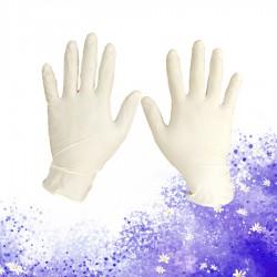 白色無粉乳膠手套(100隻)