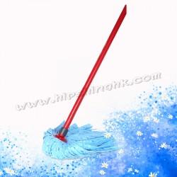 微力達纖維地拖(藍色頭)連棍