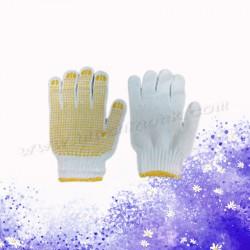 黃色膠粒防滑手襪 (12對)