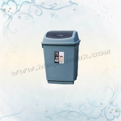 10L搖蓋式垃圾桶