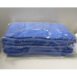 纖維毛巾(12條)藍色