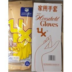 優科斯黃色絨裡膠手套(12對)